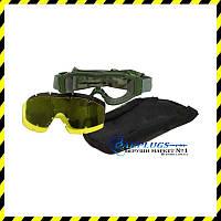 Очки баллистические STS Myhorn с запасными линзами. Цвет: olive (MG-RK3)