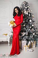 Вечернее платье Русалка красное