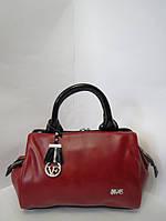 Классическая красная сумка из натуральной кожи Velina Fabbiano