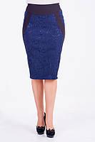 Нарядная женская юбка синего цвета