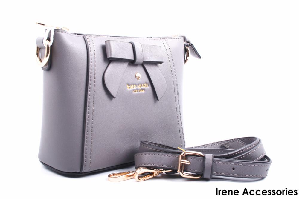 Элегантная маленькая женская сумка Kate Spade цвет серый