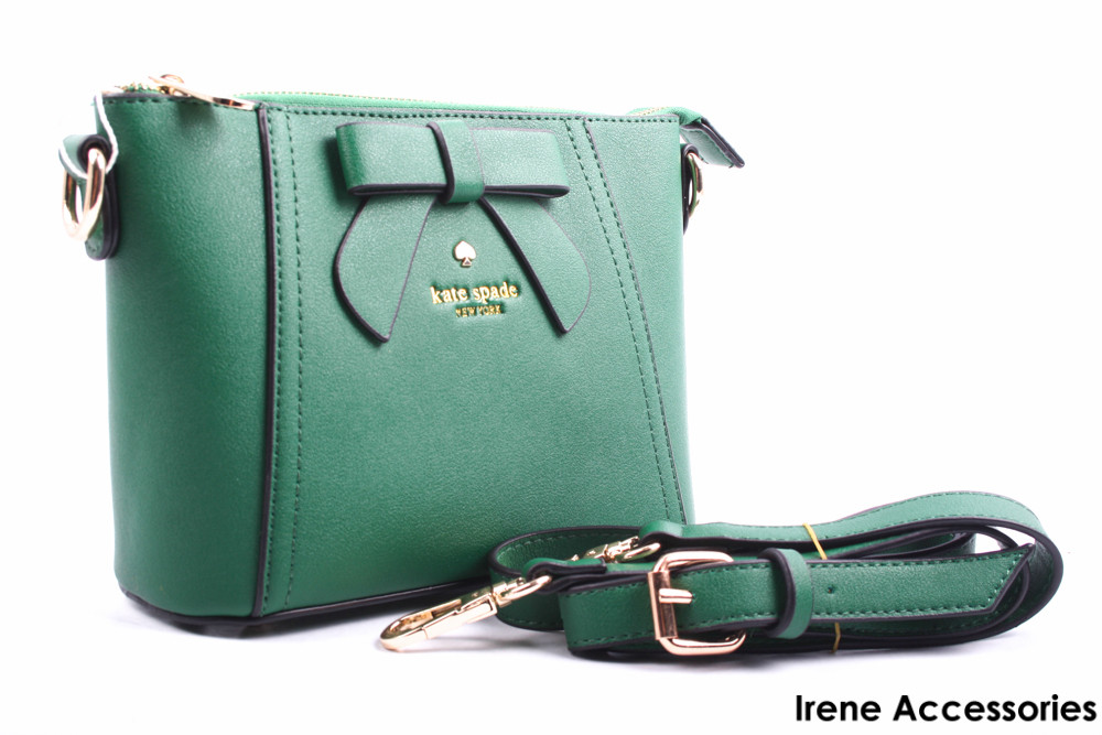 Элегантная маленькая женская сумка Kate Spade цвет зеленый