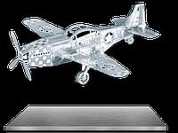 Конструктор металлический 3D Истребитель Mustang P-51 MMS003