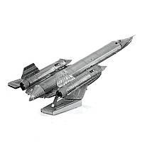 Конструктор металлический 3D Самолёт SR71 Blackbird MMS062
