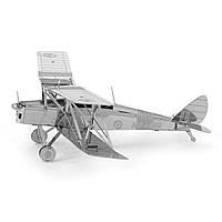 Конструктор металлический 3D Биплан Tiger Moth MMS066