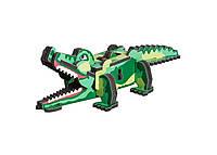 Картонная модель Крокодил 087 Умная Бумага