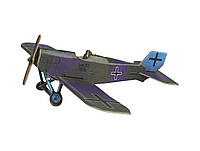 Картонная модель Истребитель Юнкерс (синий) 337-2 Умная Бумага