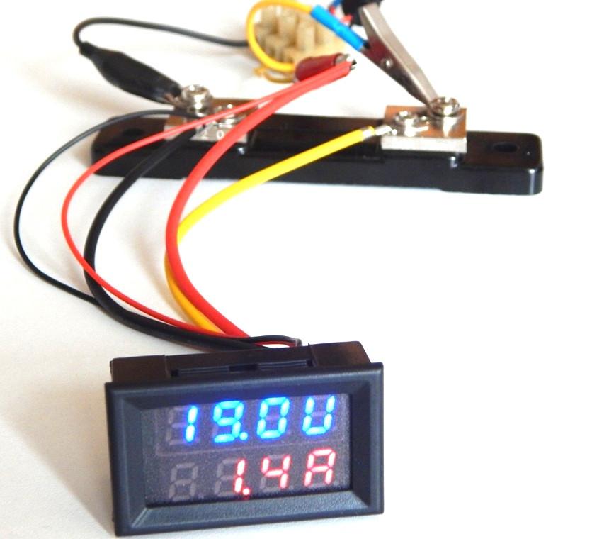 Цифровой вольтметр амперметр DC 100V 50А без шунта
