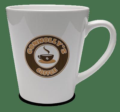 Печать фото на чашках керамических Latte белых