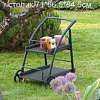 Стол - тележка на колёсиках - искусственный ротанг - мебель для дома, мебель для сада, мебель для ресторана