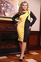Женское Платье  Пиони желтый (48-72)