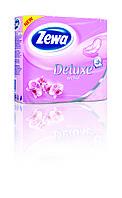 Туалетная бумага Zewa Deluxe Орхидея (розовая) 4 рулона 21м/150 листов 3 слоя