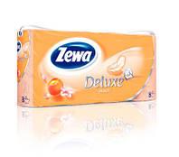 Туалетная бумага Zewa Deluxe Персик 8 рулонов 21м/150 листов 3 слоя