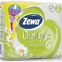 Туалетная бумага Zewa Deluxe Ромашка 4 рулона 19,3м/150 листов 3 слоя