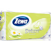 Туалетная бумага Zewa Deluxe Ромашка  8 рулонов 19,3м/300 листов 3 слоя