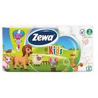 Туалетная бумага Zewa Kids 8 рулонов 21м/150 листов 3 слоя