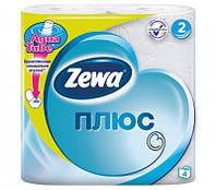 Туалетная бумага Zewa Плюс Белая 4 рулона 23м/184 листов 2 слоя