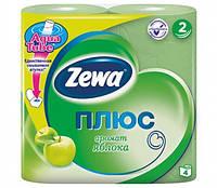 Туалетная бумага Zewa Плюс Зеленая 4 рулона 23м/184 листов 2 слоя