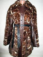 Полушубок-Куртка норка,норковая -натуральная кожа 46-48р