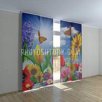 Японские фотошторы разные цветы