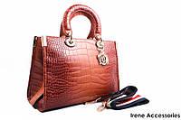Элегантная женская сумка Dior цвет рыжий