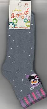 Детские носки х/б махровые Элегант, 20 размер, светло-серые