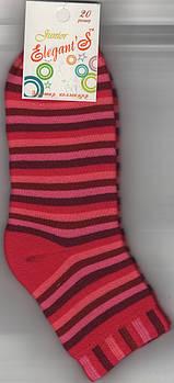 Детские носки х/б махровые Элегант, 20 размер, полоска розовые