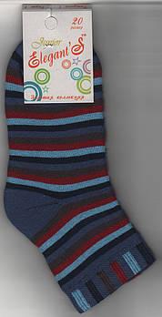 Детские носки х/б махровые Элегант, 20 размер, полоска джинсовые