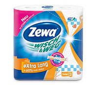 Кухонные полотенца Zewa Wisch & Weg Design 2 слоя, 2 рулона 72 листа (25х24см)