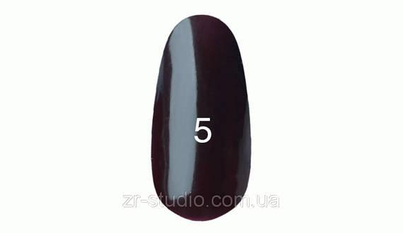 Гель лак Kodi professional 7мл. №5 (Темно коричневый,с сливовым оттенком)