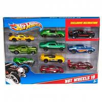 Машинки Hot Wheels Подарочный набор автомобилей 10 штук