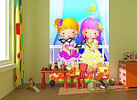 """Детские Фотообои """"Для девочки"""", текстуры: холст, иней, декоративная штукатурка"""