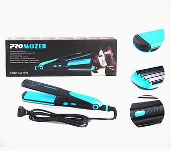 Выпрямитель для волос + гофре, стайлер Mozer MZ7016, 2в1, керамика, 60 Вт. Приборы для укладки волос.