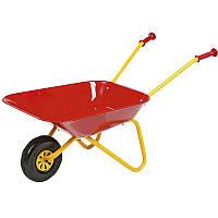 Тачка садовая детская металлическая Rolly Toys красная