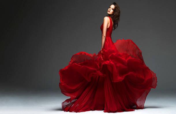 Платья с юбкой-солнце – красиво и женственно