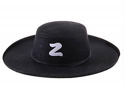 Карнавальний капелюх Зорро дитяча