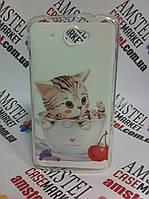 Чехол на Lenovo S920 оригинальная панель накладка с рисунком котик в чашке