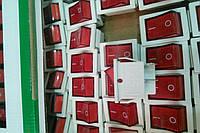 Переключатель белый широкий с красной клавишей