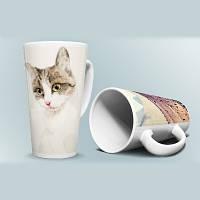 Печать фото на чашках керамических Latte больших