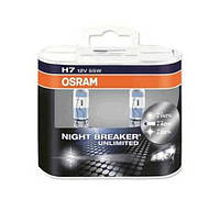 Автолампа галоген H7 12V 55W OSRAM NIGHT BREAKER UNLIMITED