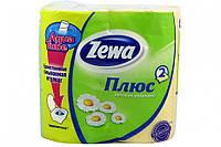 Туалетная бумага Zewa Плюс Жовта 4 рулона 23м/184 листов 2 слоя