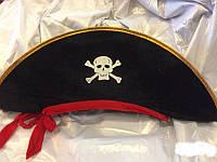 Шляпа Пирата с лентой треуголка пиратская шляпа