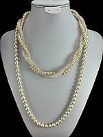 Ожерелье жемчуг и воздушный циркон