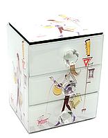 Шкатулка с ящиками Девушка с собачкой