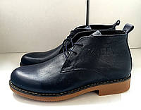 Мужские классические ботинки Zara темно-синие топ реплика