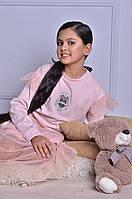 Нарядный розовый джемпер для девочки, фото 1