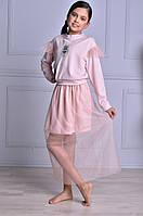Нарядная полупрозрачная юбка для девочки, фото 1