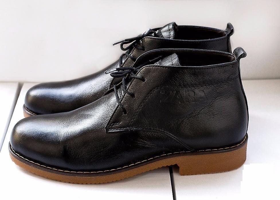 Мужские классические ботинки Zara темно-коричневые - Интернет-магазин обуви и одежды KedON в Киеве
