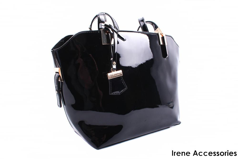 Элегантная женская сумка Bonilarti Oalenzi с косметичкой цвет черный