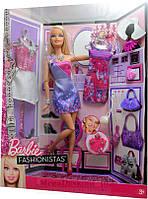 """Кукла Барби """"Модница""""  Большой гардероб / Barbie Fashionistas Glam doll Barbie and outfits"""